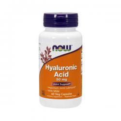 "Желатин ""NOW Hyaluronic Acid 50mg + MSM 60 vcaps"" (Производитель NOW Foods)"