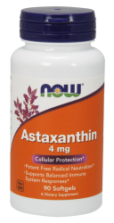 "Антиоксиданты ""NOW Astaxanthin 4 mg 60 softgel"" (Производитель NOW Foods)"